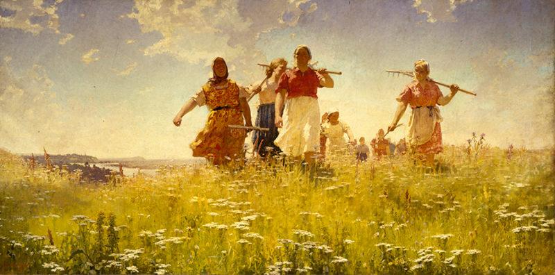 En los campos de paz, 1950. Andrey Mylnikov.
