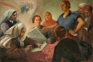 Olga Yanovskaya. Delegados femeninos del VI congreso, 1932.