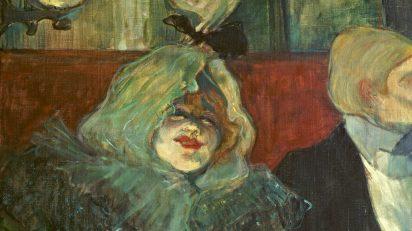 Henri de Toulouse-Lautrec. En un reservado (En el Rat Mort) c. 1899. Óleo sobre lienzo, 55,1 x 46 cm. The Samuel Courtauld Trust. The Courtauld Gallery, Londres.