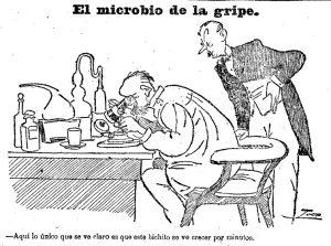 Viñeta de la portada de <em>El Heraldo de Madrid</em> del 26 de octubre de 1918.