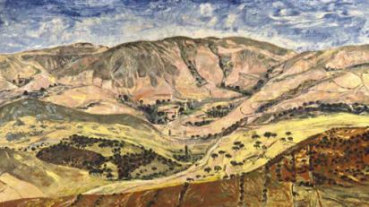 Campo del amanecer. Soria. Benjamín Palencia.