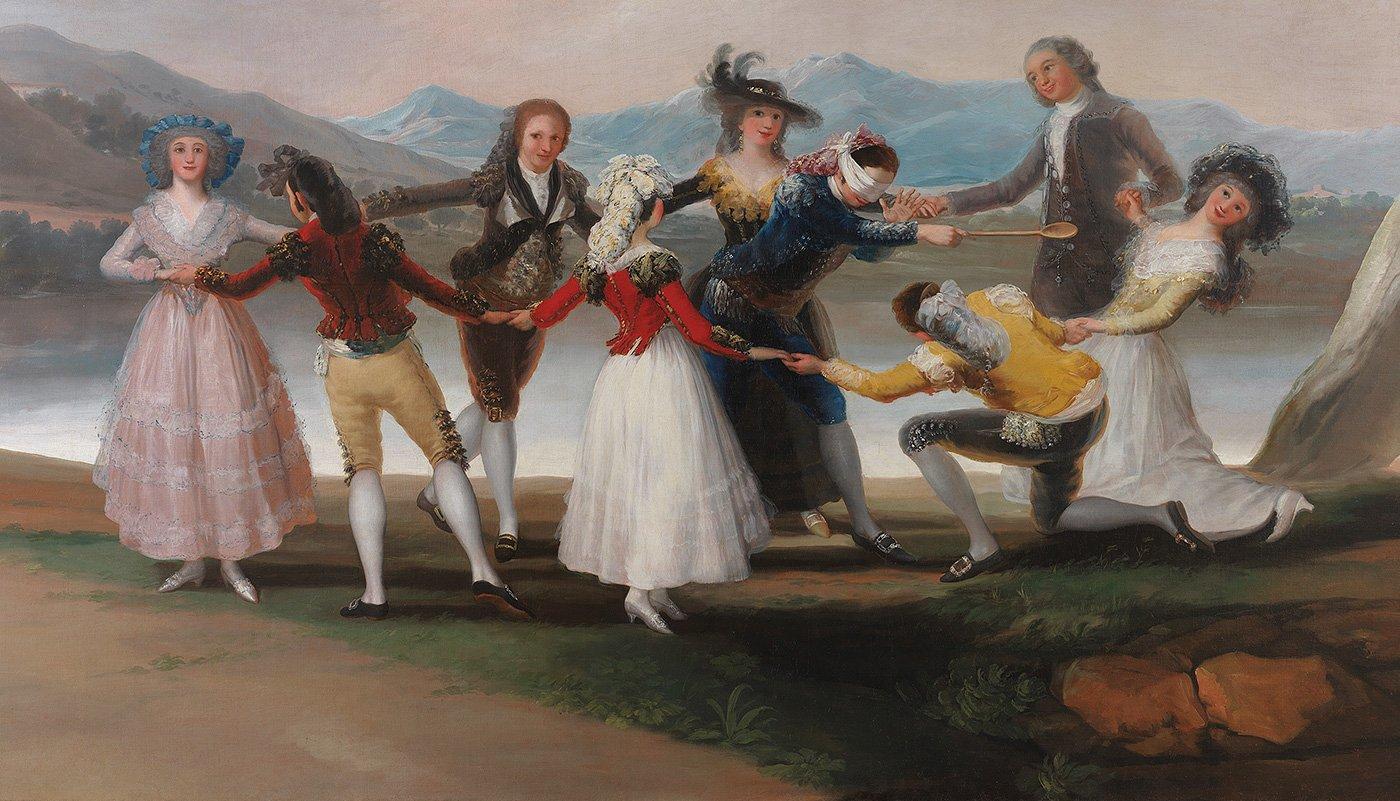 Francisco de Goya (Fuendetodos, Zaragoza, 1746-Burdeos, 1828). La gallina ciega, 1788. Óleo sobre lienzo. 269 x 350 cm.