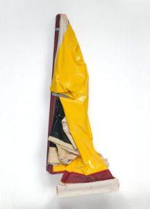 """Ángela de la Cruz. 'Clutter VII (Yellow)', 2004. Colección """"La Caixa"""" Art Contemporani, Barcelona."""