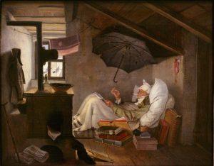 <em>El poeta pobre</em> (C. Spitzweg).