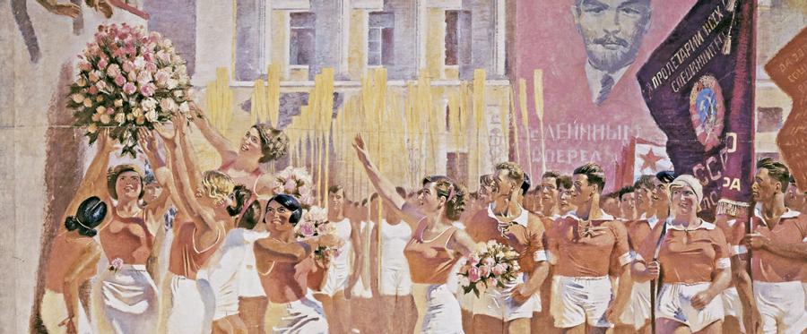 S.M. Kirov en la marcha de deportistas aficionados, 1935. Alexander Samokhvalov.
