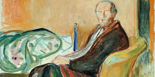 Autorretrato después de la gripe española (E. Munch).