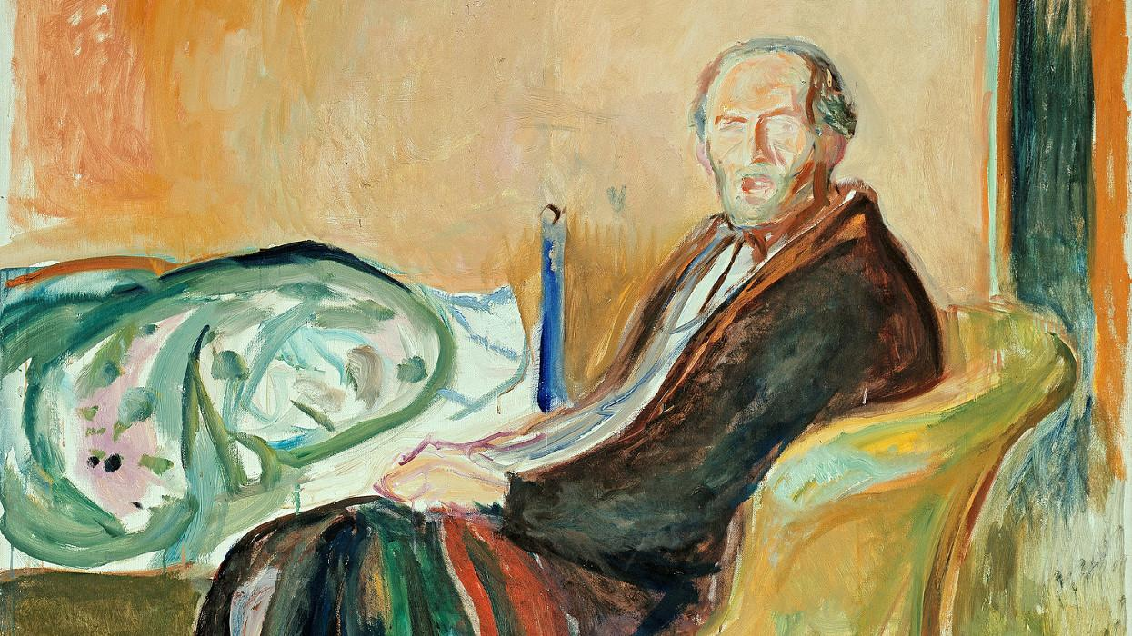 Edvard munch self portrait with cigarette