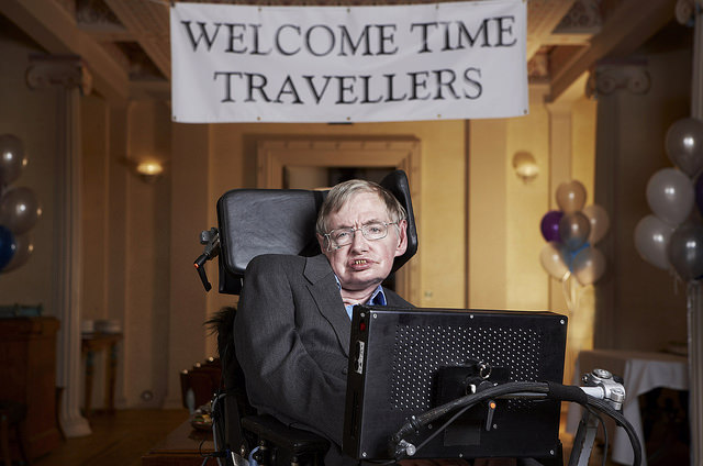 Stephen Hawking at Gonville & Caius College, Cambridge. Foto: Lwp Kommunikáció.