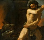 Hércules y el can Cerbero. Francisco de Zurbarán, 1634. Museo del Prado.