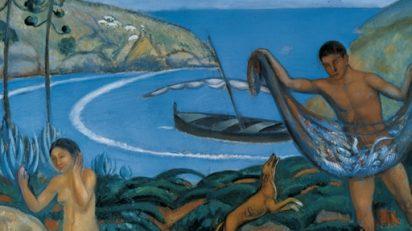 Joaquim Sunyer, Mediterráneo, c. 1910-1911. Colección Carmen Thyssen-Bornemisza © Joaquim Sunyer, VEGAP, Málaga, 2018.