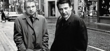 Francis Bacon (a la izquierda) y Lucian Freud, retratados por Harry Diamond en 1974.