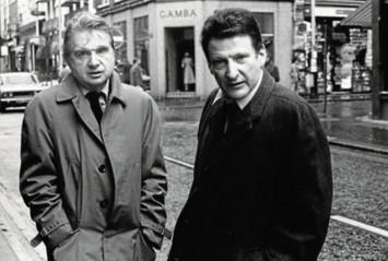 Francis Bacon (a la izquierda) y Lucian Freud, retratados por Harry Diamond en 1974.