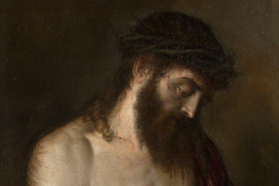 Ecce Homo (detalle; 1547), Tiziano. Museo Nacional del Prado, Madrid.