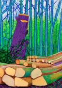 'Árboles talados en Woldgate' (2008). Óleo sobre 2 lienzos (152,5 × 122 cm cada uno). © David Hockney. Crédito fotográfico: Richard Schmidt. Würth Collection.