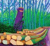 'Árboles talados en Woldgate' (2008). Óleo sobre 2 lienzos (152,5 × 122 cm cada uno). © David Hockney. Crédito fotográfico: Richard Schmidt. Würth Collection.