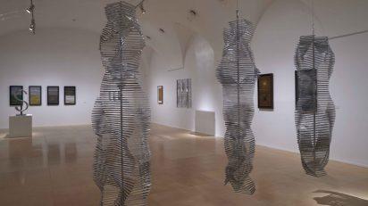 Eusebio Sempere en el Museo Reina Sofía.