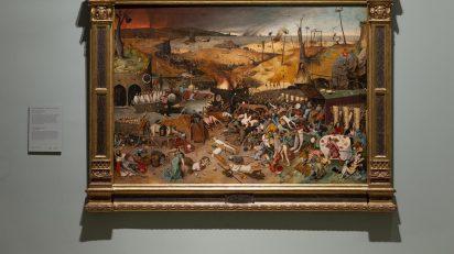 'El triunfo de la Muerte (después de la restauración)'. Pieter Bruegel el Viejo. Óleo sobre tabla, 117 x 162 cm. 1562 – 1563. Museo Nacional del Prado.