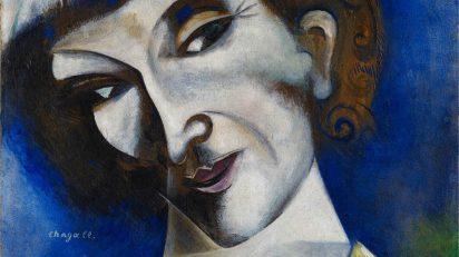 Marc Chagall. Autorretrato (Portrait de l'artiste), 1914. Depósito permanente en el Kunstmuseum Basel 2004. Fundación Im Obersteg. © Marc Chagall, VEGAP.
