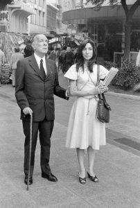 Kodama y Borges. Paseo por Calle Florida (Buenos Aires), Amanda Ortega.