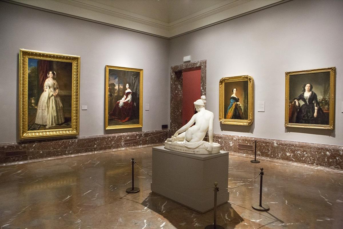 Imagen en la sala 62B de la obra 'Josefa del Águila y Ceballos, luego marquesa de Espeja' de Federico de Madrazo. 1852. © Museo Nacional del Prado.