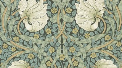 William Morris, Jeffrey & Co., Morris & Co. Papel pintado Pimpernel [Pimpinela], hacia 1876 © Morris & Co.