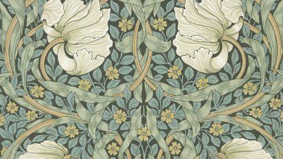 William Morris, Jeffrey & Co., Morris & Co. Papel pintado Pimpernel [Pimpinela], hacia 1876 © Morris & Co.