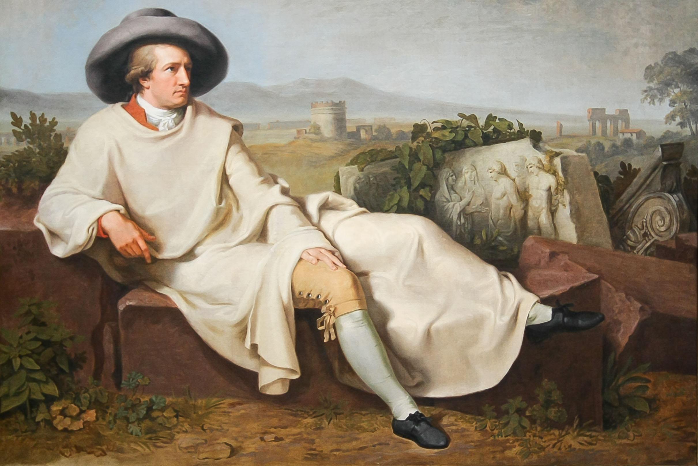 Goethe dans la campagne romaine, par Tischbein (1787).