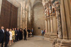 Presentación de la restauración del Pórtico de la Gloria. Casa de S.M. el Rey.