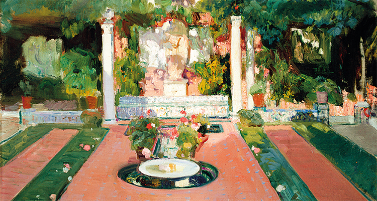 Jardín de la Casa Sorolla, h. 1918. Museo Sorolla, inv. 1235, (detalle).