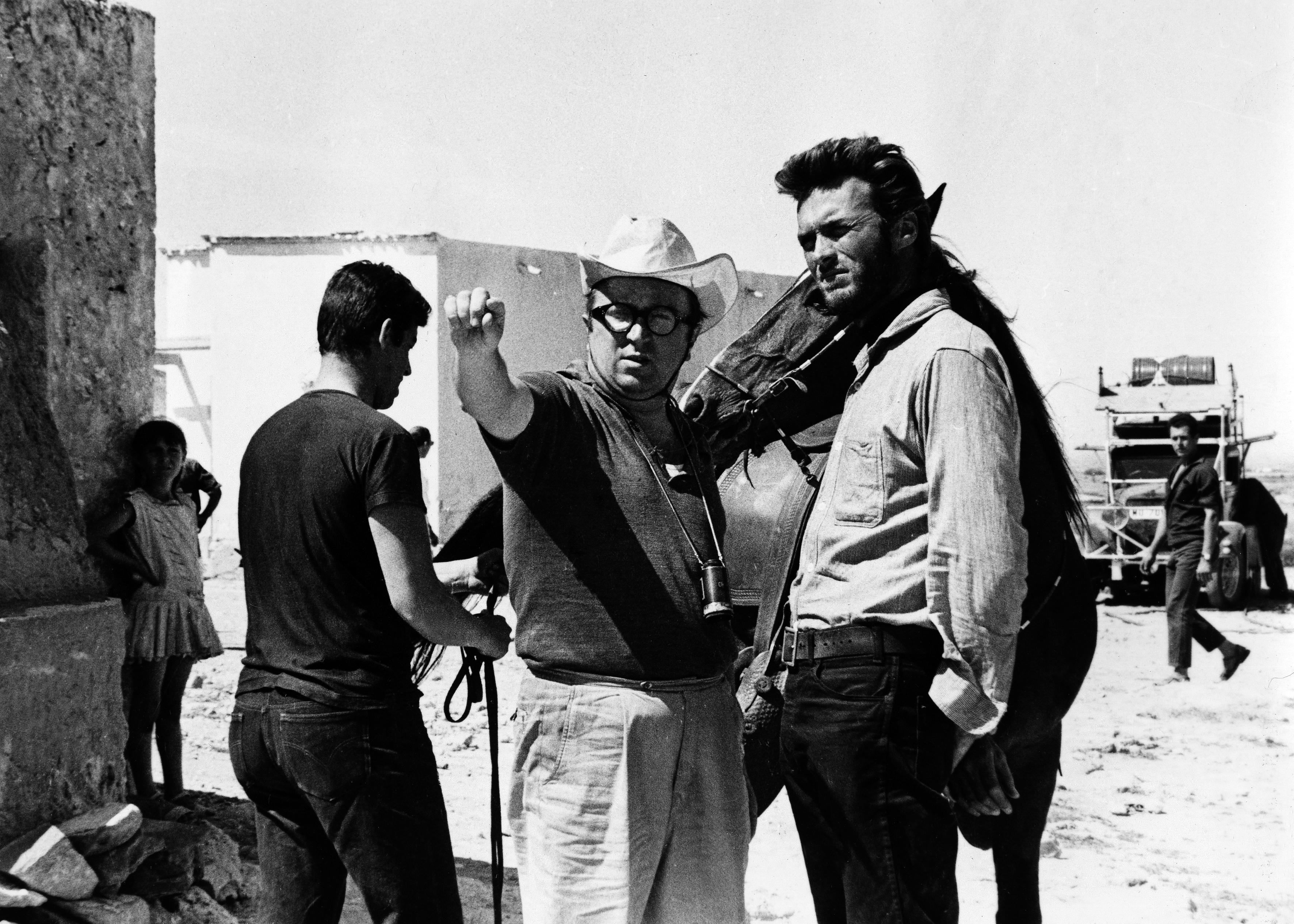 Clint Eastwood con Sergio Leone.