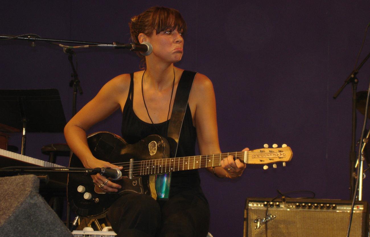 Chan Marshall (Cat Power) taken at Bonnaroo 2006 on June 16, 2006.