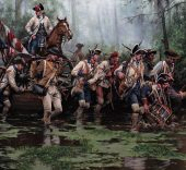 Augusto Ferrer-Dalmau. La Marcha de Gálvez, Misisipi, Baton Rouge y Natchez, agosto-septiembre de 1779. Óleo sobre lienzo, 2018. Colección privada.