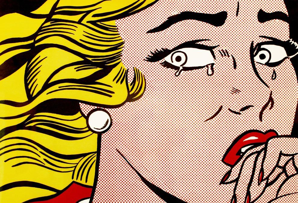 Roy Lichtenstein, Mujer llorando, 1963. © Estate of Roy Lichtenstein, VEGAP, Madrid, 2018.