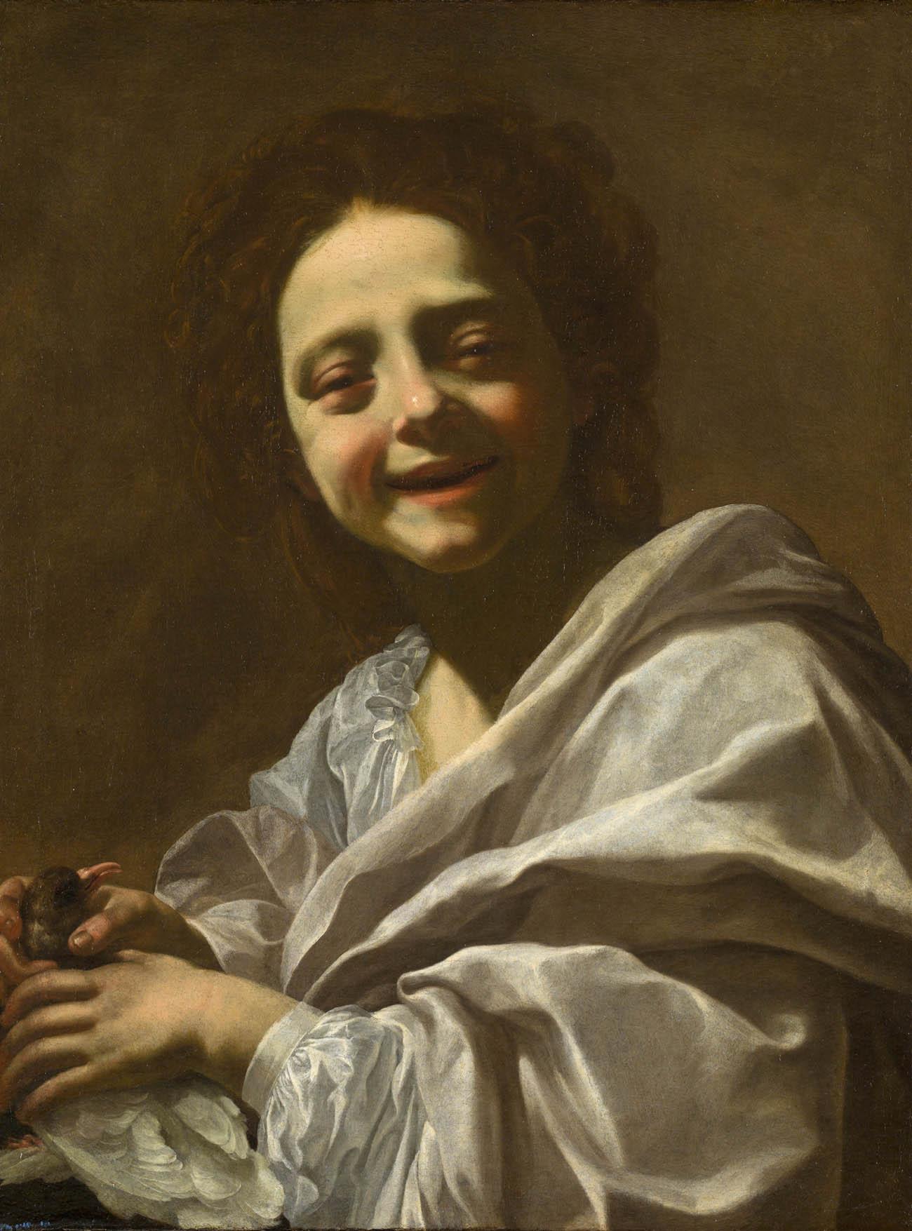 Resultado de imagen de retrato de niña con paloma simon vouet