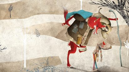 Gabriel Pacheco. Pinocho 2. Ilustración del libro 'Las aventuras de Pinocho', de Carlos Collodi. Nostra Ediciones, México. 2016.