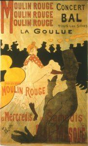 Henri de Toulouse-Lautrec, Moulin Rouge, La Goulue, 1891. Litografía, Colección particular.