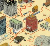 "Andrew DeGraff. ""North By Northwest"" (1959)."