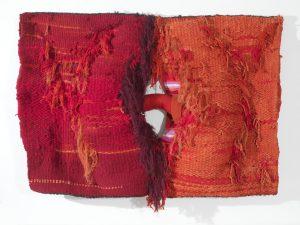 Lligam, 1973. Lana, algodón y fibra sintética. 120 x 167 cm.