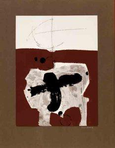 Manolo Millares (1926-1972). Mutilados de paz. Poema de Rafael Alberti. 15/III/1965.