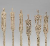 Alberto Giacometti. Femmes de Venise, 1956. Fondation Giacometti, París. © Succession Alberto Giacometti, VEGAP, Bilbao, 2018.