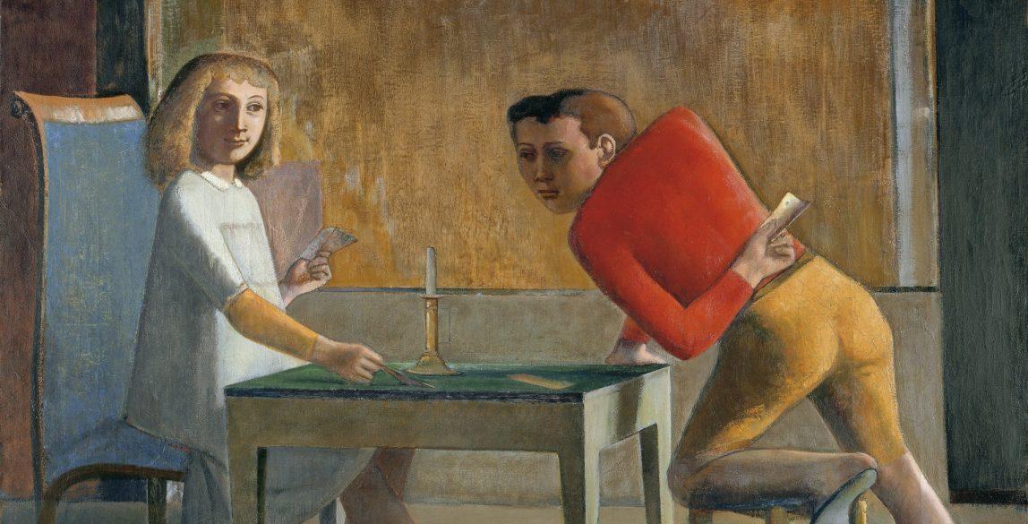 Balthus (Balthazar Klossowski de Rola). La partida de naipes, 1948-1950. © Balthus.