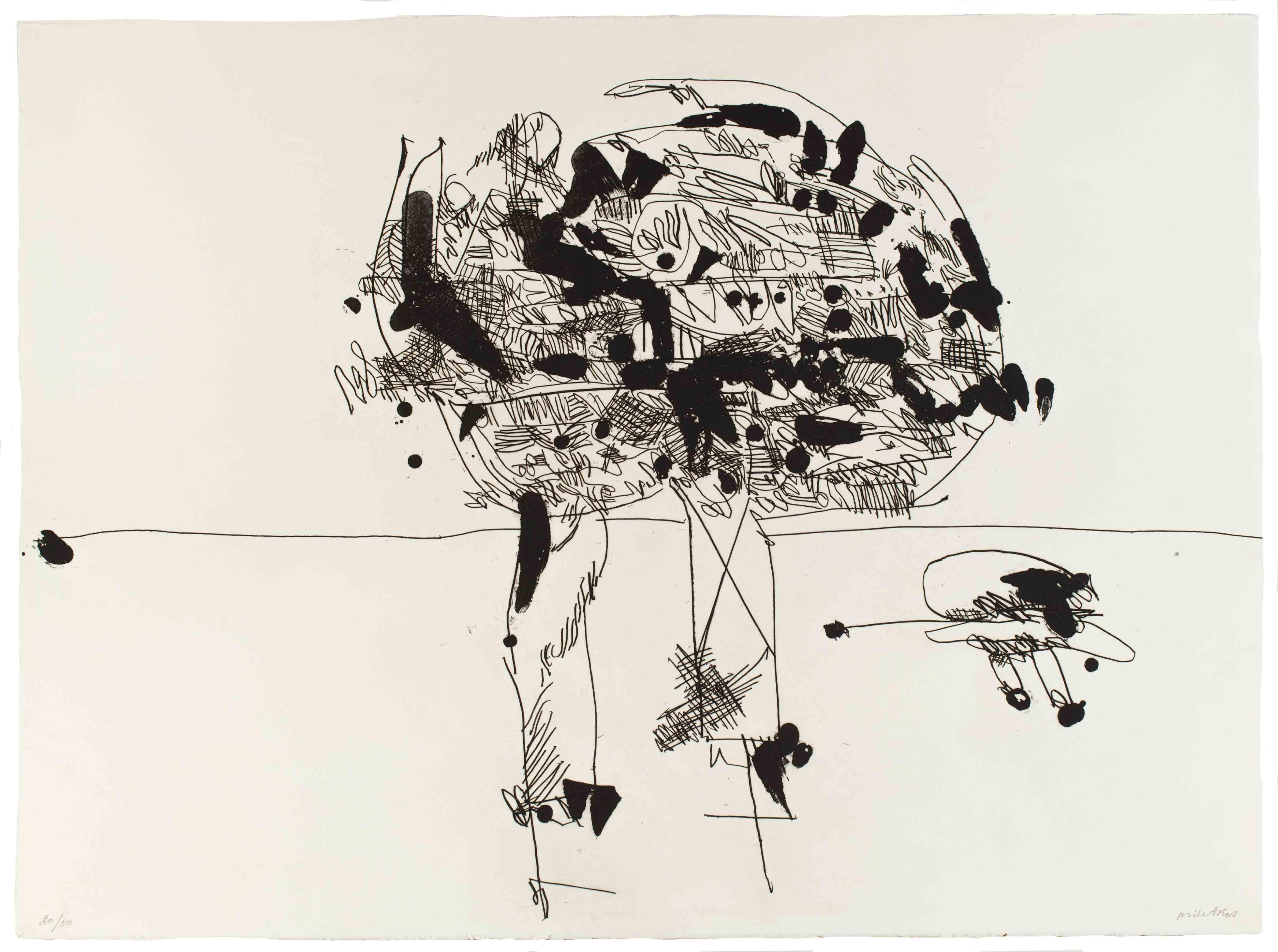 Manolo Millares (1926-1972). Antropofauna. 1970.