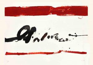 Manolo Millares (1926-1972). Torquemada. Poema de Manuel Padorno. 1970.