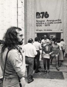Vista de la exposición en la Bienal de Venecia de 1976.