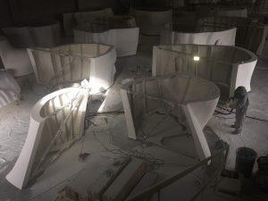 Proceso de construcción de 'Julia' de Jaume Plensa. © Fundación María Cristina Masaveu, 2018. Fotografía: Fotogasull.