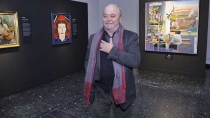 Alfonso Albacete en la exposición 'Vanitas'.