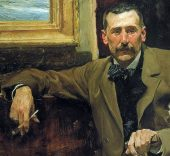 Joaquín Sorolla. Retrato de Benito Pérez Galdós. Original en la Casa-Museo Pérez Galdós (Cabildo de Gran Canaria).