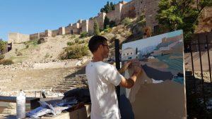 Concurso de pintura al aire libre 'Pintando extramuros'. © Museo Picasso Málaga.