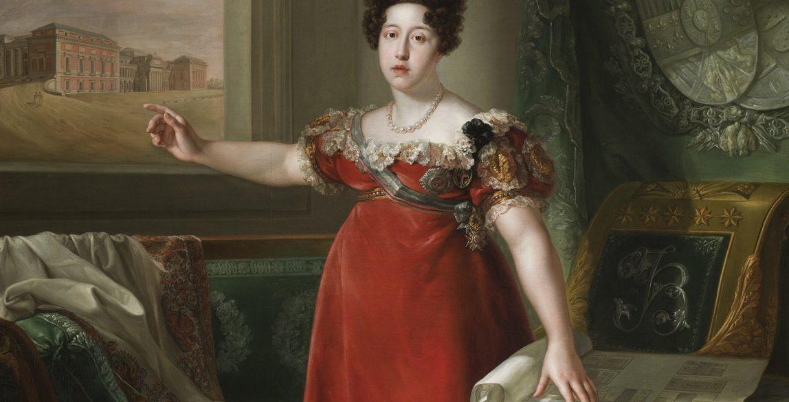 María Isabel de Braganza como fundadora del Museo del Prado Bernardo López Piquer Óleo sobre lienzo, 258 x 174 cm 1829 Madrid, Museo Nacional del Prado.