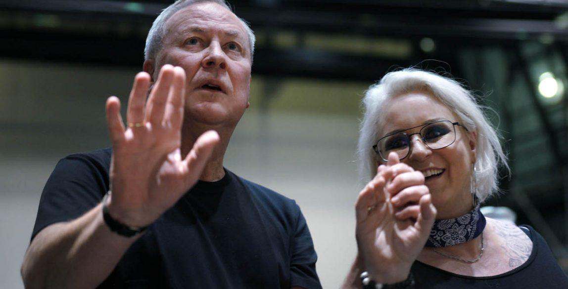 Turandot. La soprano Irene Theorin y Bob Wilson, director de escena, escenógrafo e iluminador.